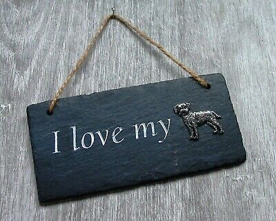 Border Terrier Slate Plaque Rustic Hanging Ornament Home Decor Valentine Gift