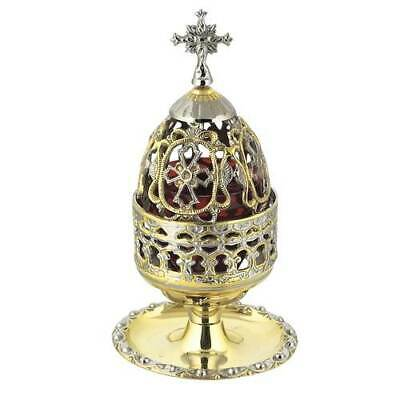 Beautiful Detailed Two Colored Table Vigil Lamp Orthodox Church Prayer Corner
