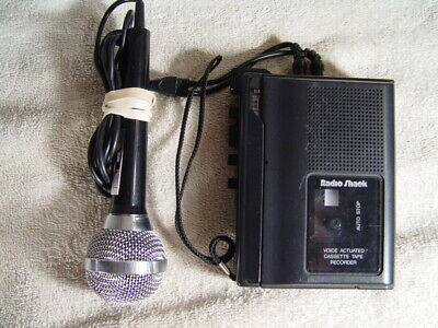 Radio Shack Minisette-20 Voice Activated Cassette Recorder 14-1055B Remote Mic