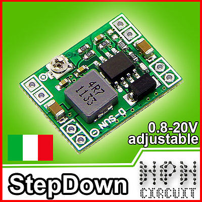 ALIMENTATORE DC-DC converter 3A Modulo Power supply StepDown Regolabile  0.8-20v