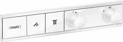 Hansgrohe 15380700 RainSelect Thermostatic Mixer for 2 Outlets, Matt White