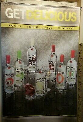 Bacardi Flavors GET DELICIOUS satin flag banner for bar mancave 36 x 59 inches
