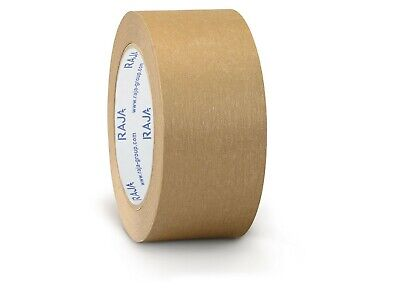 12 Rolls Of Brown Self Adhesive Paper Tape - Eco Friendly & Recyclable