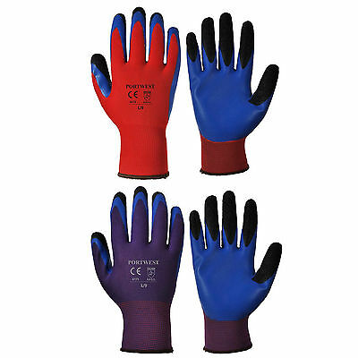 Portwest A175 Duo Flex Glove Advanced Double Dipped Coated Fingers ***
