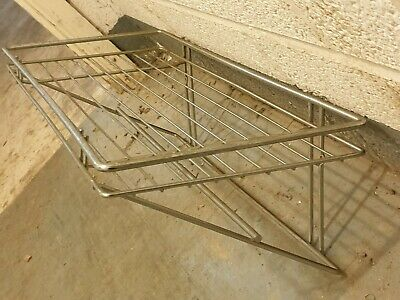 Metal Commercial Kitchen Wall Mounted Wire Shelf Rack / Storage Unit