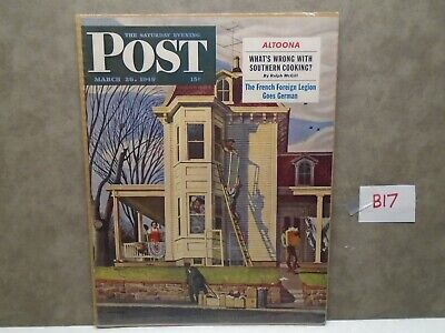 Vintage 1949 MARCH 26 SATURDAY EVENING POST COVER Magazine Ad  B17