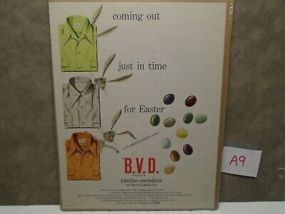 Vintage EASTER BUNNY BVD SHIRT COLOR JELLY BEANS Magazine Ad  A9