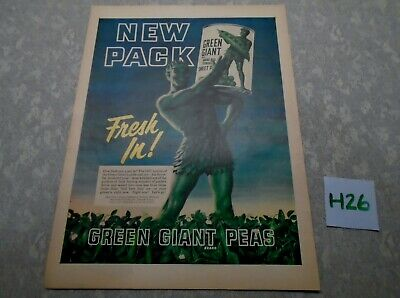 Vintage Pillsbury Green Giant Magazine Ad Suitable for Framing H26 NEW PACK