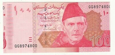 2018 Pakistan Rs 100 Error Note Shifting Towards Left Year Printed On Left Unc