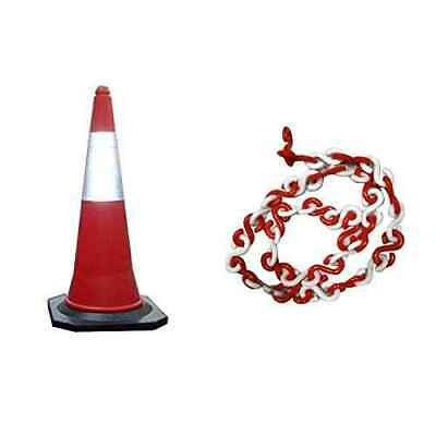 Bellstone PVC Traffic Safety Cone with 10m Chain, 528631 (Pack of 10)