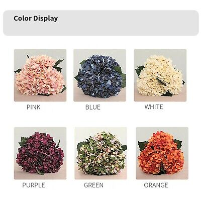 Decoration Artificial Hydrangea Flower Fake Flower Flowers Artificial Decor