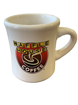 WAFFLE HOUSE Diner Restaurant Ware Heavy Ceramic Coffee Mug 9oz Logo Ad