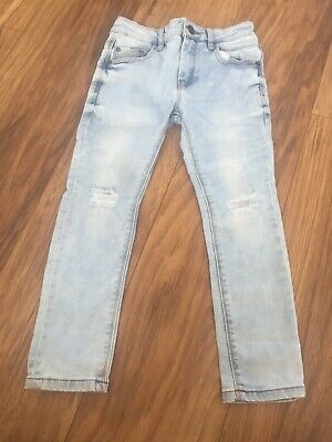 Next Jeans Light Wash Ripped Knees Size6 Years Great Condion Skinny Fit