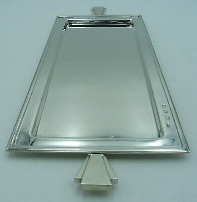 Solid Silver Art Deco Tray by Goldsmiths and Silversmiths