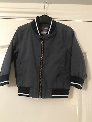 Baby/Toddler Boys Blue Zip Up Bomber Jacket Age 12-18 Months By Primark