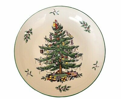Spode England S3324-A1 8.75-inch Christmas Tree Dinner Serving Vegetable Bowl