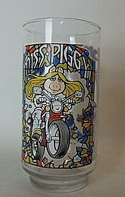 Vintage McDonalds 1981 The Great Muppet Caper~Miss Piggy on Motorcycle Glass