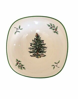 Spode Christmas Tree Small Square 5-inch Dip Dipping Sauce Bowl S3324-A11