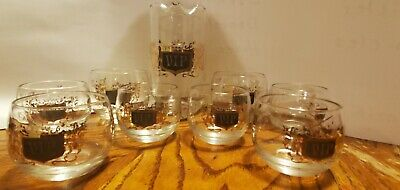 Vintage Roly Poly VIP Barware~Pitcher & 8 Glasses~Stunning!