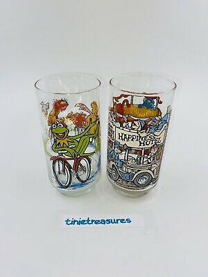 Vintage 1981 Set of 2 The Great Muppet Caper McDonalds Glasses