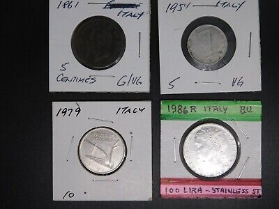 1861 Italy 5 Centimes - PLUS MORE!!