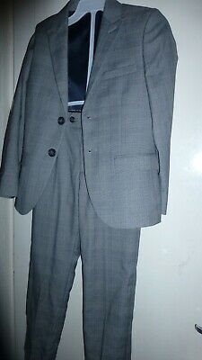Next Signature Boys 8 Years 2Pcs Grey Checked Jacket And Trousers