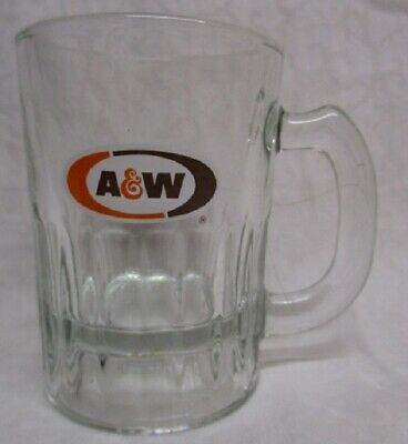 A&W ROOT BEER  4 oz Baby Mini Glass Mug with handle ~ 1968-1995
