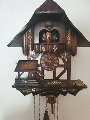 Chalet musical -Animated  Cuckoo Clock -fully working- Made By Schneider