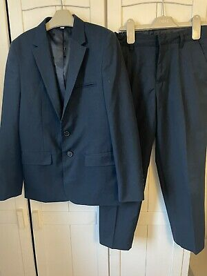 Marks And Spencers Boys Navy Suit Age 10-11 Years Used