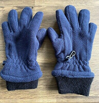 Next Boy's Blue Fleece Gloves Size Uk 6-7 Years Good Condition