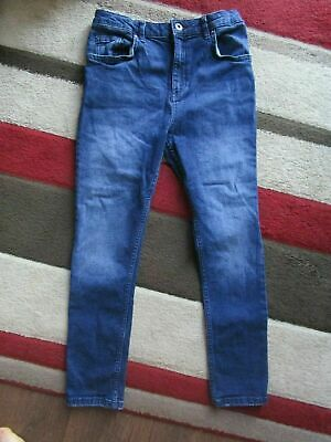 boys boy river island dark blue denim jeans skinny age 11 years worn once