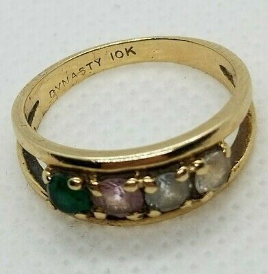 Scrap / Wear 10k Gold Ring, Gemstones, Gold Jewelry - 2.45 Grams- 5 DAY AUCTION!