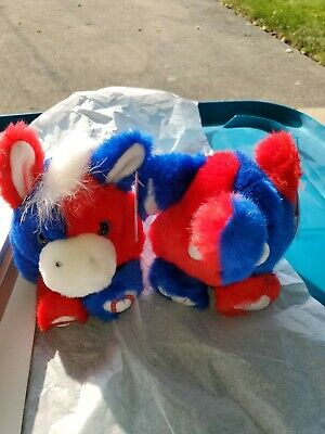 Puffkins Stars & Stripes Plush Toys Red White & Blue New with Tags