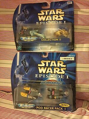 Star Wars Episode 1 Micro Machines Pod Racer Pack 1 Figures Collection Packaged