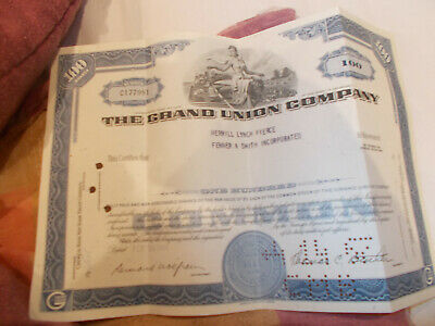 100 Shares The Grand Union Company Stock Certificate
