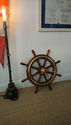 Wood and brass Ships Wheel. 25 inch. Includes extra 20 inch wheel.