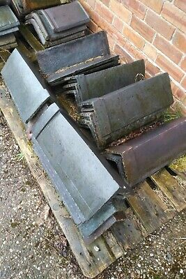 Old roof ridge tiles, blue reclamation used 80/90 degree angle reclaimed