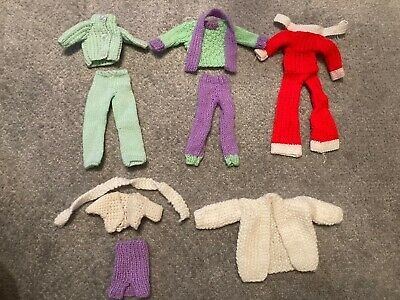 Hand Knitted Barbie Vintage Clothes