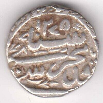 Bhopal State-Ah:1275-Nawab Sikandar Begum-One Rupee-Rarest Beautiful Silver Coin