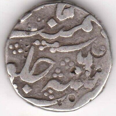 Hyderabad State-Afzal Ud Daula-One Rupee-Rarest Beautiful Silver Coin