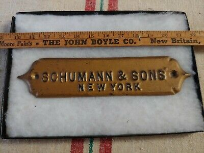 Antique Cast Iron Sign Charles Schumann & Sons Jewelers in Manhattan