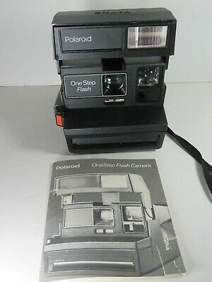 Polaroid Vintage One Step Flash Camera Untested 600 Instant Very Clean A8602
