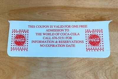 Coupon For One Free Admission To The World Of Coca-Cola No Expiration Date