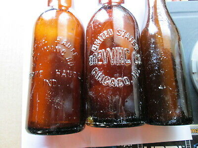 Vintage E&J Burke, Terre Haute Brewing  & United States Brewing,  Bottles, Empty