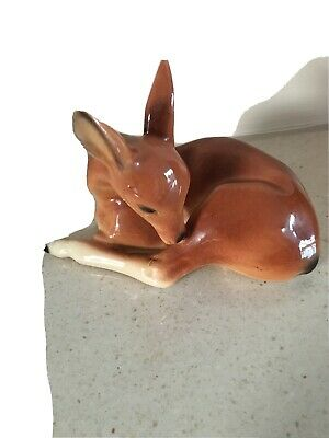 Vintage Foreign Collectible Deer Bambi Ornaments / Figurine 2535