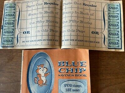 9 Full books of blue chip stamps