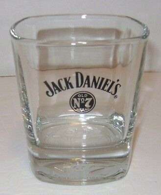 Jack Daniels Old No. 7 Est 1866 Tennessee Whiskey Rocks Square Glass