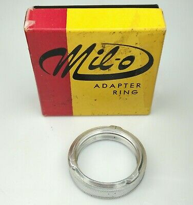 Mil-O Adapter & Retaining Ring ROLLEI B30 Bay 1 Bayonet to Series V / 5 [3B02]