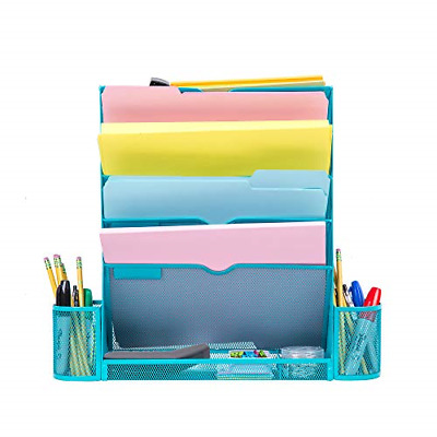 Pro Space Mesh File Organizer 6 Tier Wall File Folder Holder Ofiice Hanging Tray
