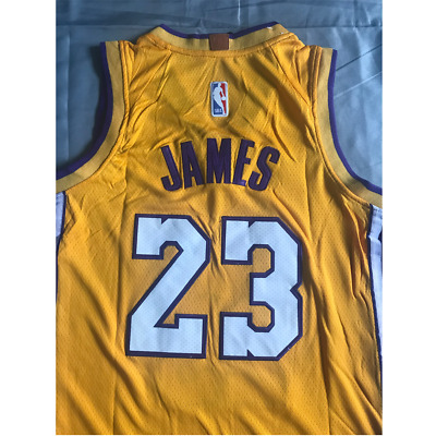 NWT YOUTH/KIDS LOS Angeles Lakers Lebron James# 23 yellow Stitched ...
